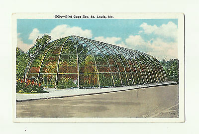Vintage Postcard- Bird Cage Zoo, St. Louis, Missouri, 1934 Posted