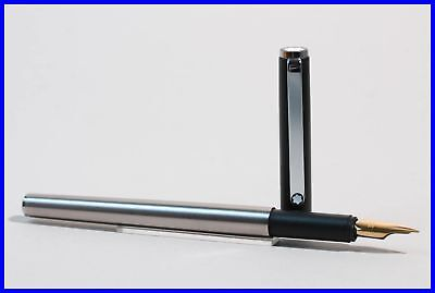 1990's MONTBLANC Triple Star fountain pen / F aureate nib / german design
