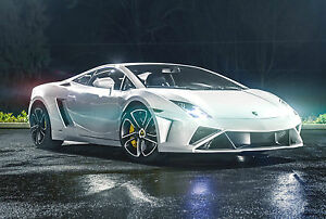 A3 LAMBORGHINI SPORTS SUPER CAR POSTER PRINT ART -  RALLY/SPORTS4