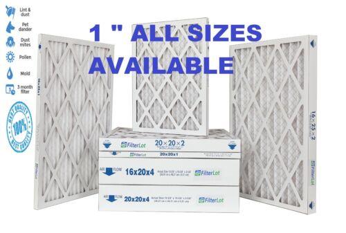 """1"""" Pleated Air Filters HVAC Merv 8 - 6 Filters -10x12x14x15x16x18x20x24x25x30x36"""