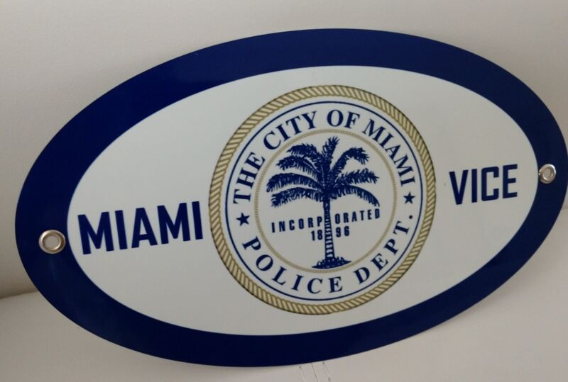 Miami Vice Police Department Florida sign