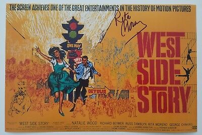 Rita Moreno Signed 12x18 Poster West Side Story Actress Electric Company EGOT