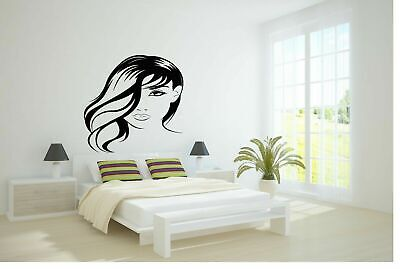 Wall Vinyl Sticker Decals Kids Room Decor Mural Woman Girl Long Hair Cheap #149](Cheap Wall Decals)