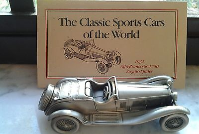 Alfa Romeo Spider Pewter Collectible- Danbury Mint