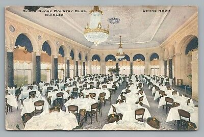 South Shore Country Club CHICAGO Rare Antique—Dining Room Interior 1910s