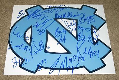 NORTH CAROLINA TAR HEELS TEAM SIGNED PHOTO AUTOGRAPHED BY 16 (PROOF) NBA DRAFT