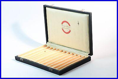 ROTRING 1950' s black RIEPE WERK case for 12 fountain pen, ballpoint, pencil box