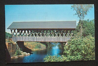 1959 Keniston Covered Bridge over the Blackwater River Andover NH Merrimack Co