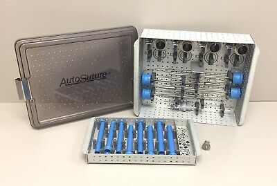 Auto Suture Versa Step Trocars And Cannula Set In Sterilization Case With Hubs