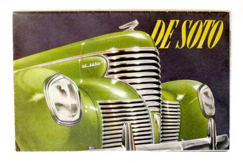 1939 DE SOTO Brochure  Chrysler Booklet Coupe Sedan