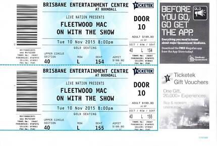 FLEETWOOD MAC AT BOONDALL, BRISBANE x2 Buderim Maroochydore Area Preview