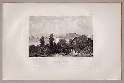 Serbien, Petrovaradin, Novisad, Neusatz - Gesamtansicht - Stahlstich 1850
