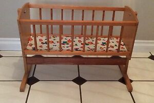 Wooden Doll Cradle      Vintage