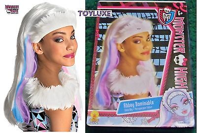 Monster High ABBEY BOMINABLE Fashion Dress Up CHILD WIG Halloween Costume Hair - Monster High Halloween Costumes Games