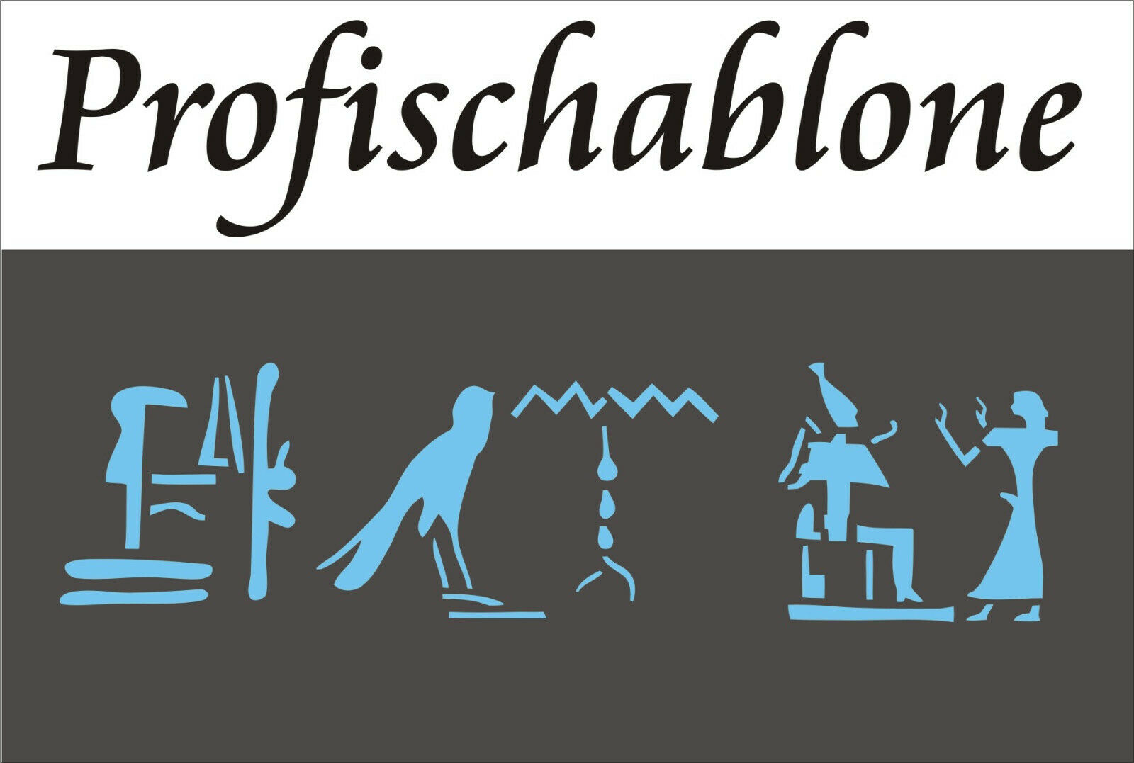 Schablone Wandschablone Malerschablone Dekorfries Deko  ägyptische Hieroglyphen