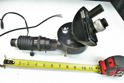 Wild Heerbrugg Binocular Microscope Head W Illuminator Tube Assembly 14x