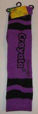 Vivid Violet Crayola Crayon Color Women's Knee High Socks Size 9-11 Purple  - Knee High Purple Socks
