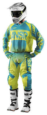Blue Pant Mx Gear - Answer Syncron Air Yellow/Blue Jersey & Pant Combo Set MX A17.5 Off Road Gear