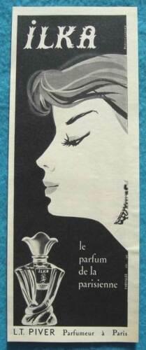 """Publicité Papier - Parfum """"ILKA"""" de L.T. Piver de 1958"""