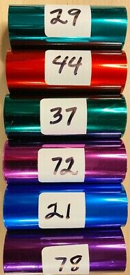 Kingsley Hot Stamp Stamping Foil - Hot Colors - 6 Roll Pack -3 X 95 -free Ship