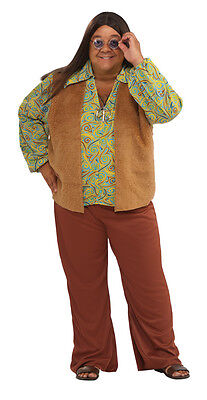 Groovy Guy Hippie 60's Plus Size Adult Costume (Groovy Guy Kostüme)