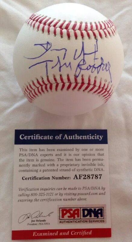 Dennis Quaid PSA/DNA Authenticated Hand Signed OMLB The Rookie