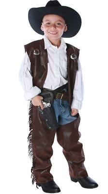 Underwraps - Cowboy Chaps and Vest Child Costume Accessory (Cowboy Vest Costume)