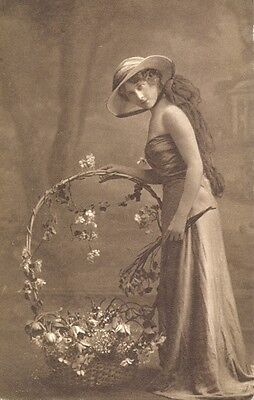 Postcard of a young lady - fashion