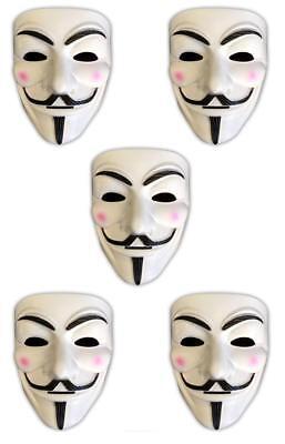 5x V wie Vendetta Maske   Anonymous   Party Halloween Karneval Maske