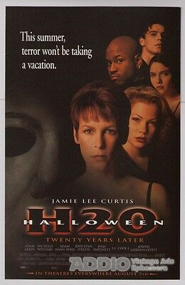 HALLOWEEN H2O Jamie Lee Curtis movie 90s PRINT AD horror film advertisement 1998