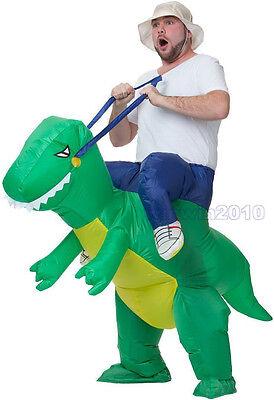 Rider Inflatable Dinosaur T-REX Adult Fancy Dress Unisex Costume Adult Kids Dino (Adult Dino Costume)
