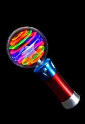 Light-Up Spinning Star Wand Princess LED Rave Toy Stick Flashing Wizard Ball