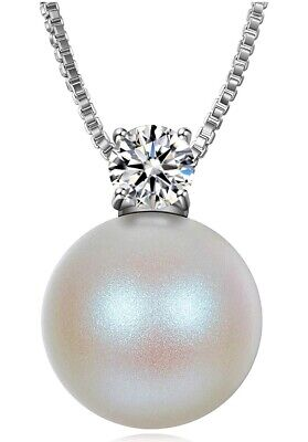 Pearl Pendant Necklaces for Women with 5A Cubic Zirconia Jewellery