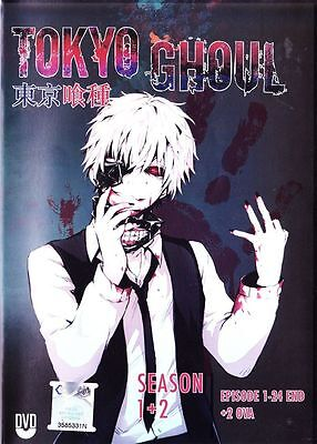 Tokyo Ghoul  Season 1  2  Anime Dvd  Vol 1   24 End    2 Ova With English Dubbed