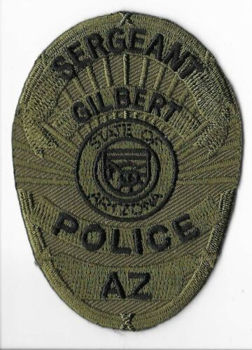 Gilbert Police Department, Arizona Sergeant Subdued Breast Patch