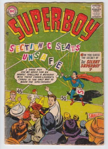 SUPERBOY # 54 SUPER-SUIT 1957 DC Comic G+