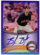 2011 Topps Chrome Autograph Brandon Belt