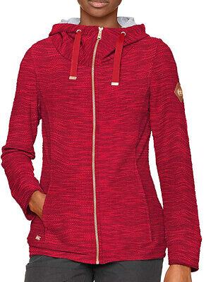 Regatta Closinda Womens Fleece Jacket Red Full Zip Stylish Leisure Sweater L 14
