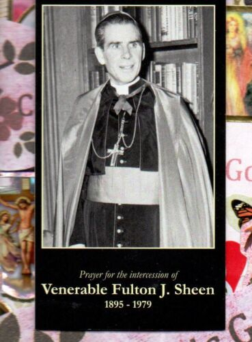"""Blessed Fulton J. Sheen - Prayer (2 x 3.5"""") Heavy Paperstock Holy Card"""