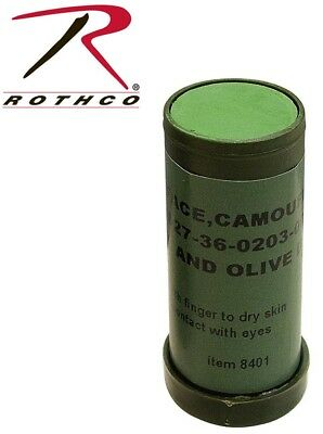 OD Green & Black Camouflage Genuine GI Face Paint Stick military Rothco -