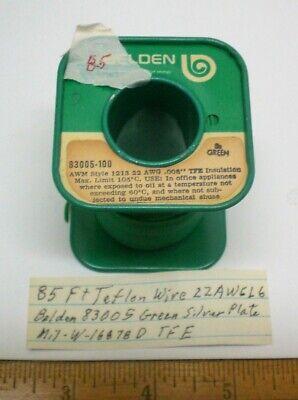 85 Ft. Teflon Wire 22 Awg Belden 83005 Silver Plate Mil-w-16878d Lot 6 Usa