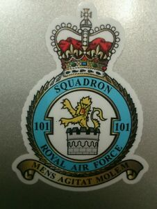 Royal Air Force 101 squadron Crest sticker decal Vc 10 Voyager