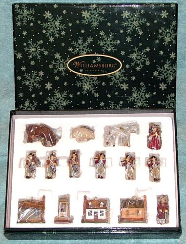 """Lang & Wise - Williamsburg #0509013 - """"The Collection"""" - 15 Mini-Ornaments, LNIB"""