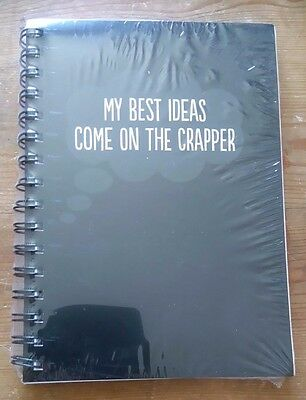 Rude Notebook MY BEST IDEAS COME ON THE CRAPPER pad 16 x 21cm Spiral bound (Best Spiral Bound Notebook)