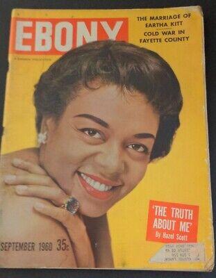 EBONY September 1960 Black Magazine HAZEL SCOTT Cover RAY CHARLES Archie Moore