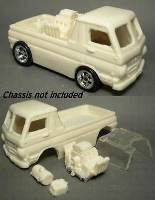 Resin HO SLOT CAR scale 1964-1970 Dodge A100 A series Wheel stander pickup truck