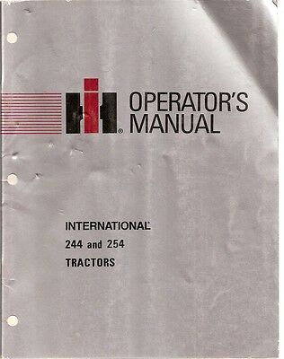 International 244 And 254 Tractor Operators Manual
