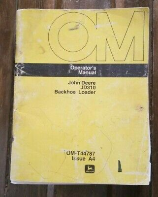 John Deere Jd310 Tractor Loader Backhoe Operators Manual