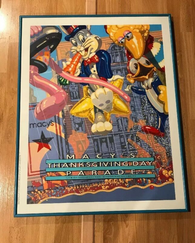 MACY'S THANKSGIVING DAY PARADE POSTER LOONEY TUNES BUGS SESAME STREET BIG BIRD