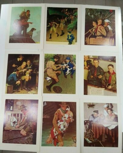 VINTAGE SCOUTING THROUGH THE EYES OF NORMAN ROCKWELL 9  PRINTS SERIES III #3003